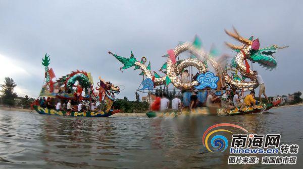 儋州光村镇泊潮村:沿袭数百年赛龙舟习俗