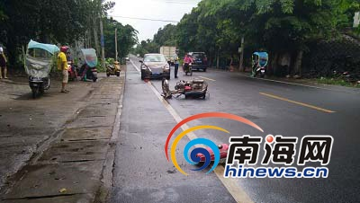 屯昌一民警驾车与男子碰撞伤者死亡家属质疑责任认定书迟迟未出