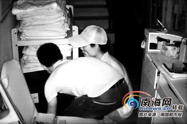 2个小偷深夜溜进海口一旅行社撬不开保险柜竟搬走