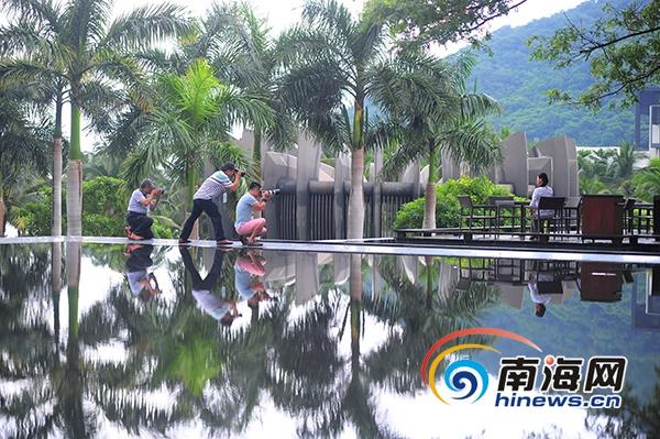 三亚吉阳区摄影采风团走进太阳湾柏悦酒店开启寻美之旅