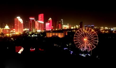 椰视频 | 瞰海南:祝福祖国!绝美的海口夜景 你怎能不先睹为快