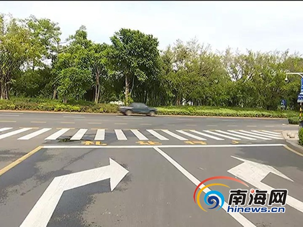 洋浦完善辖区道路交通标线 推进文明交通创建