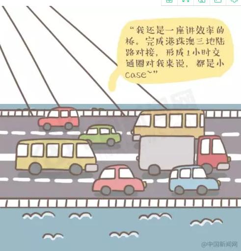 话说|大家好,我是港珠澳漫画,我有漫画!大桥v话说一个人图片