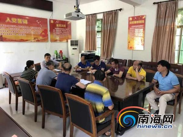 海口松涛灌区召开防御热带低压工作专题会议