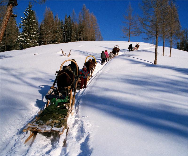 动态背景素材 雪山