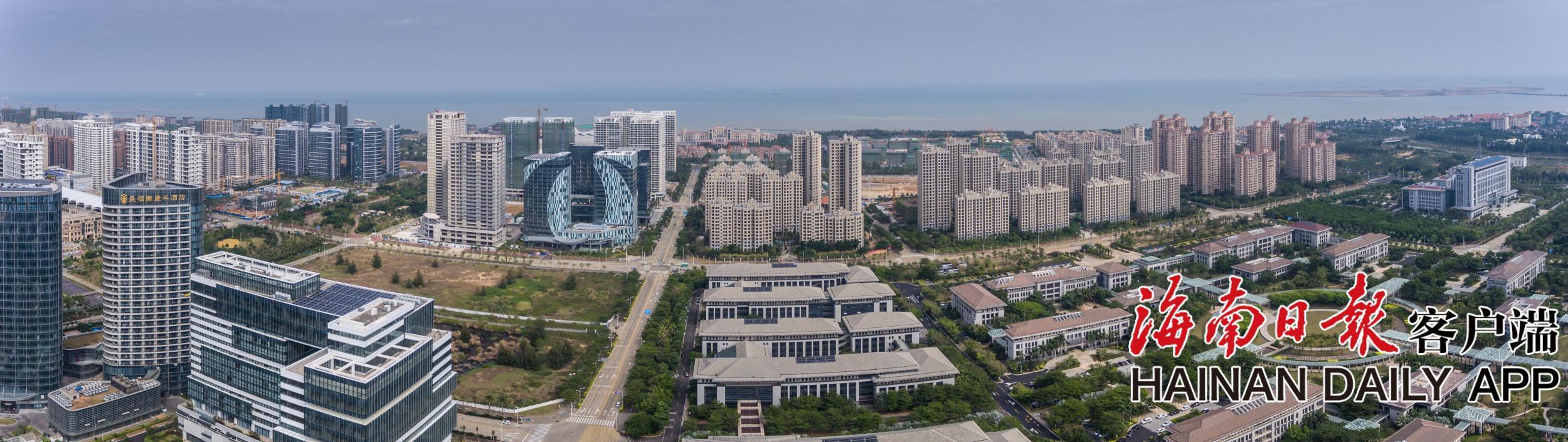 组图 海口西海岸新区起步区高楼鳞次栉比