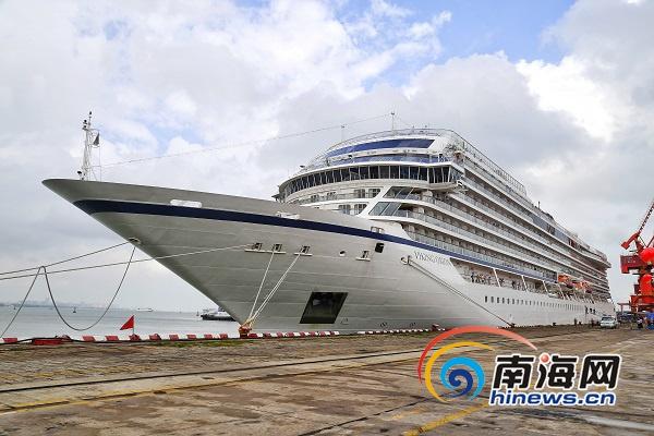 """维京""""猎户座号""""邮轮再访海口 868名欧美游客登岸畅游"""