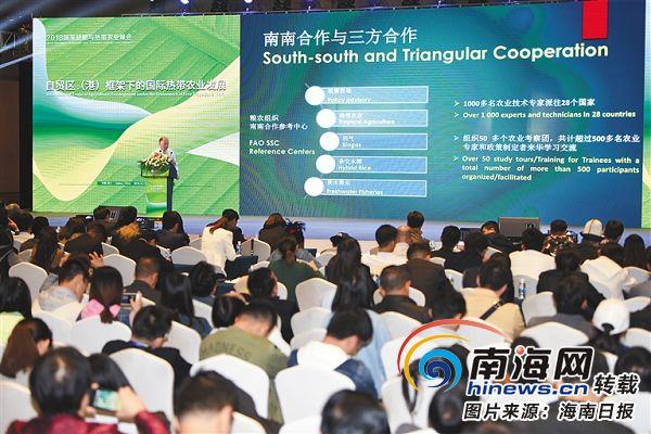 2019国家战略与热带农业峰会:国内外专家为海南乡村发展建言献策